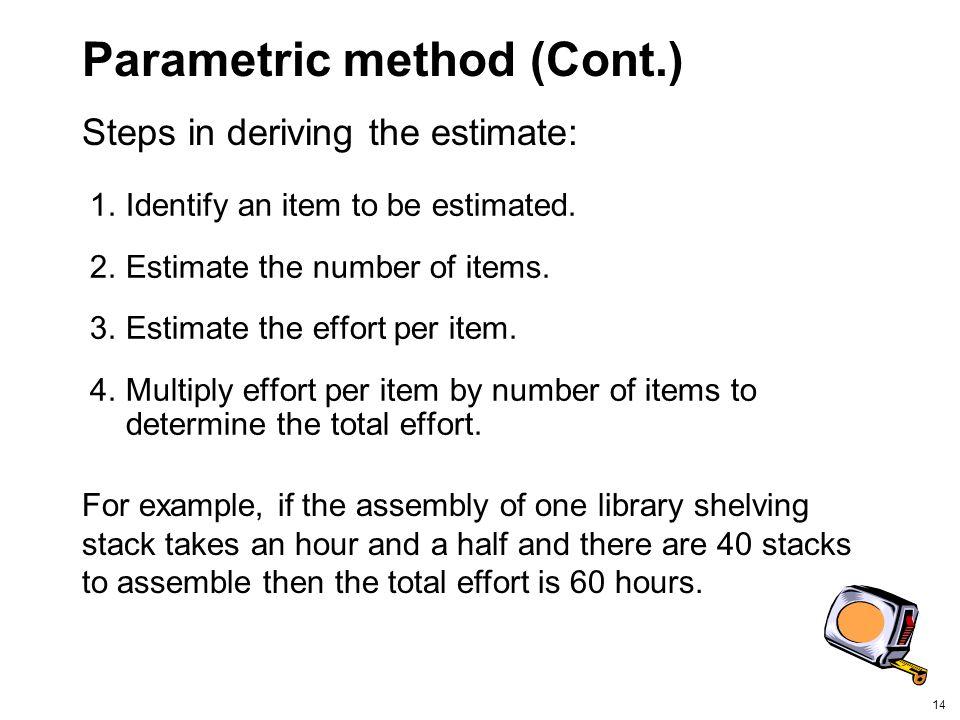 Parametric method (Cont.)