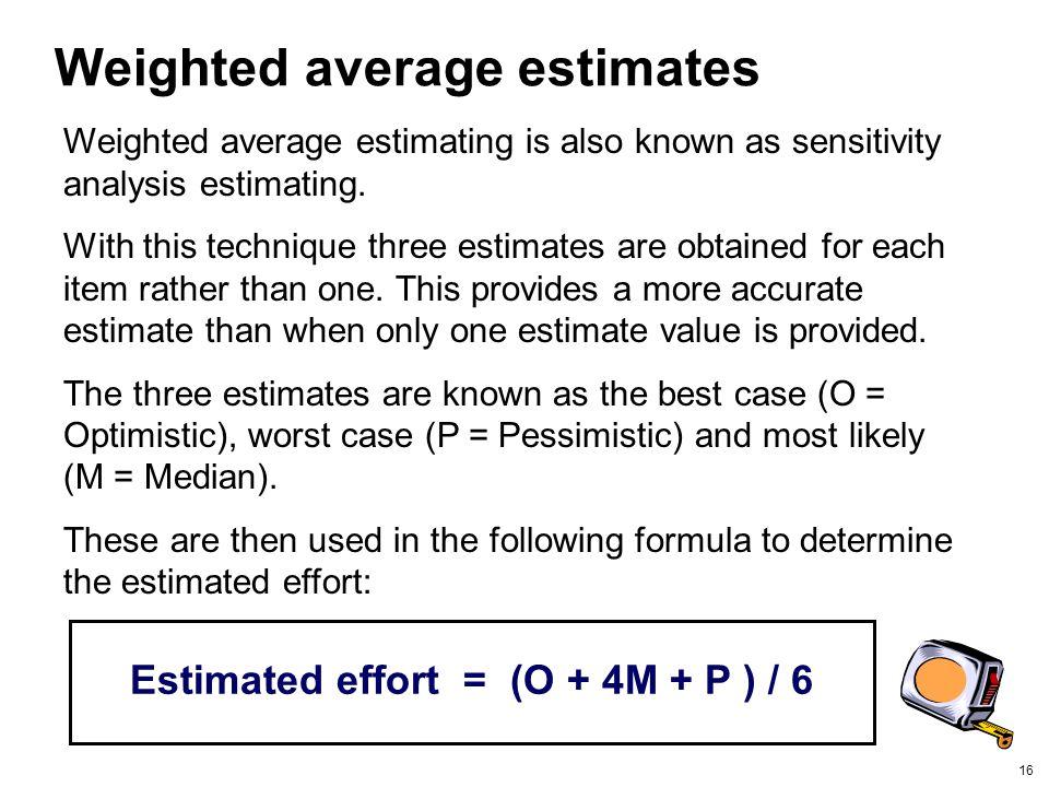 Weighted average estimates