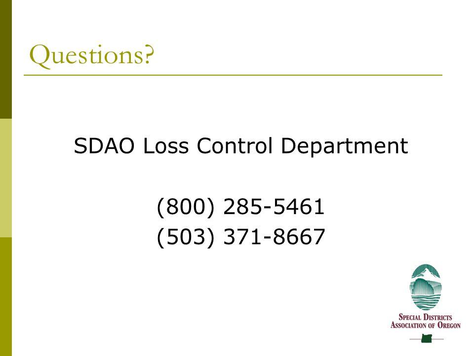 SDAO Loss Control Department