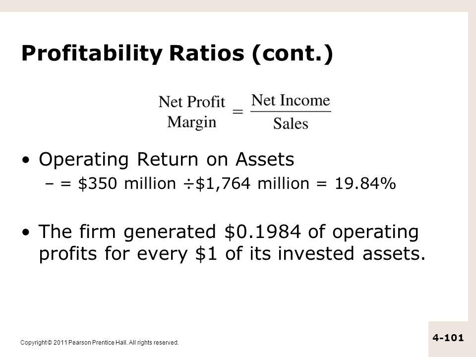 Profitability Ratios (cont.)