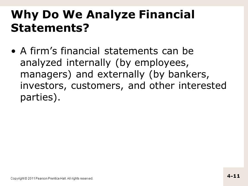 Why Do We Analyze Financial Statements