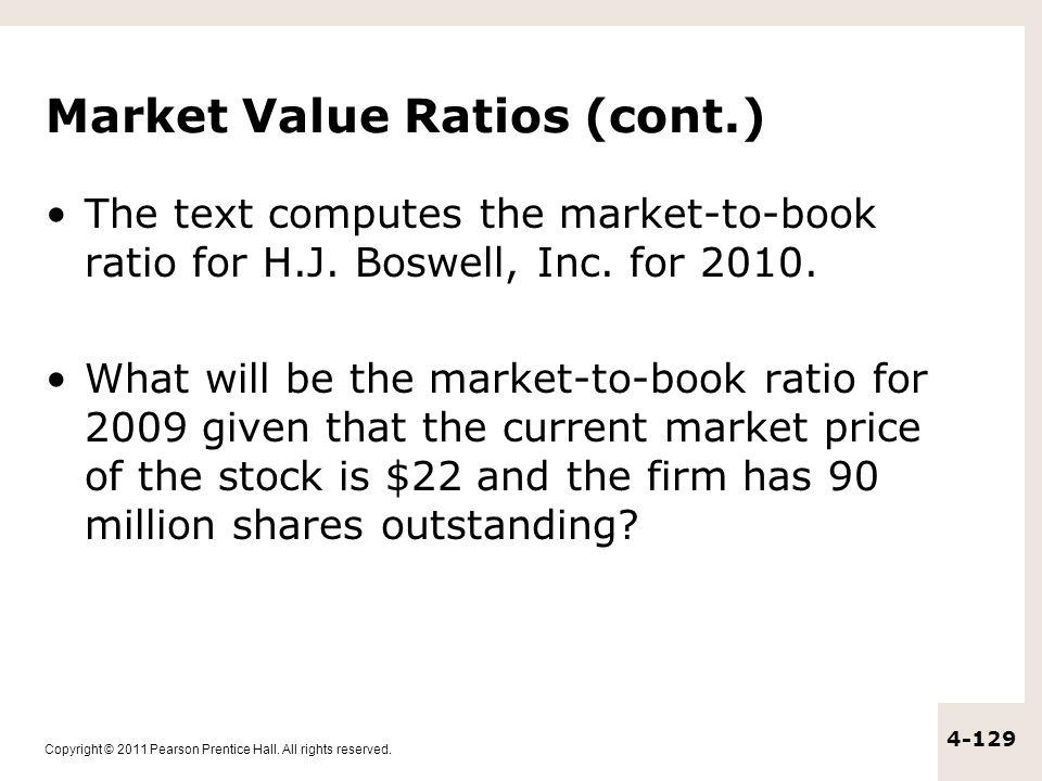 Market Value Ratios (cont.)