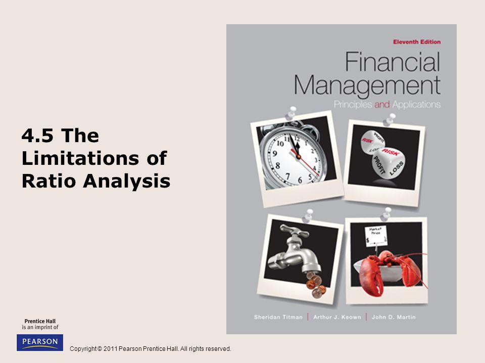4.5 The Limitations of Ratio Analysis