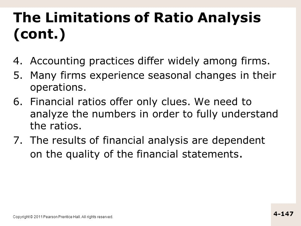 The Limitations of Ratio Analysis (cont.)