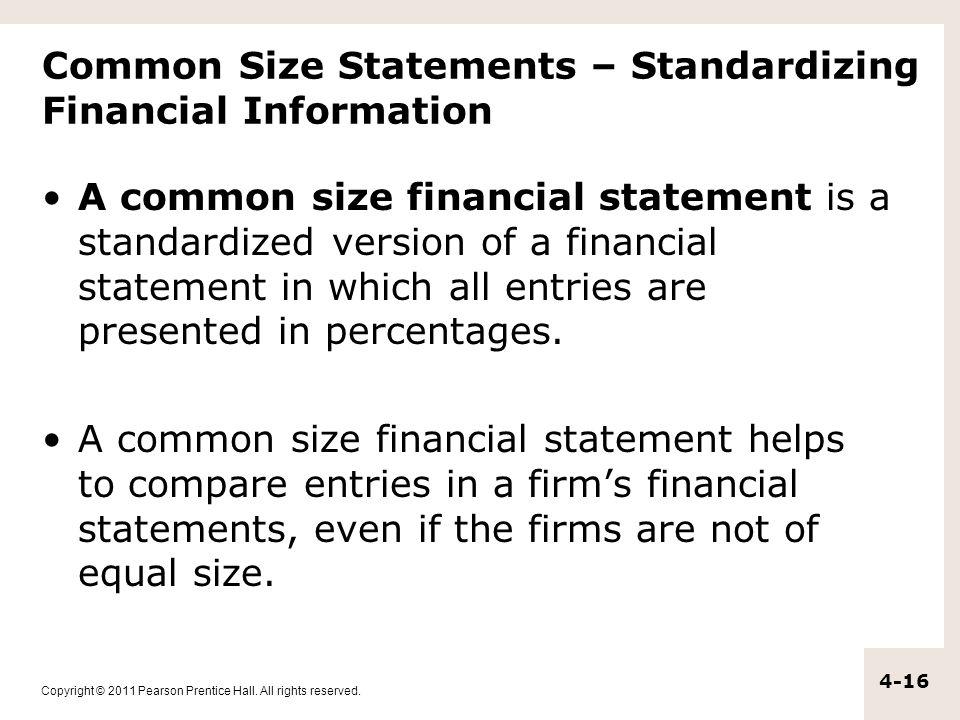 Common Size Statements – Standardizing Financial Information