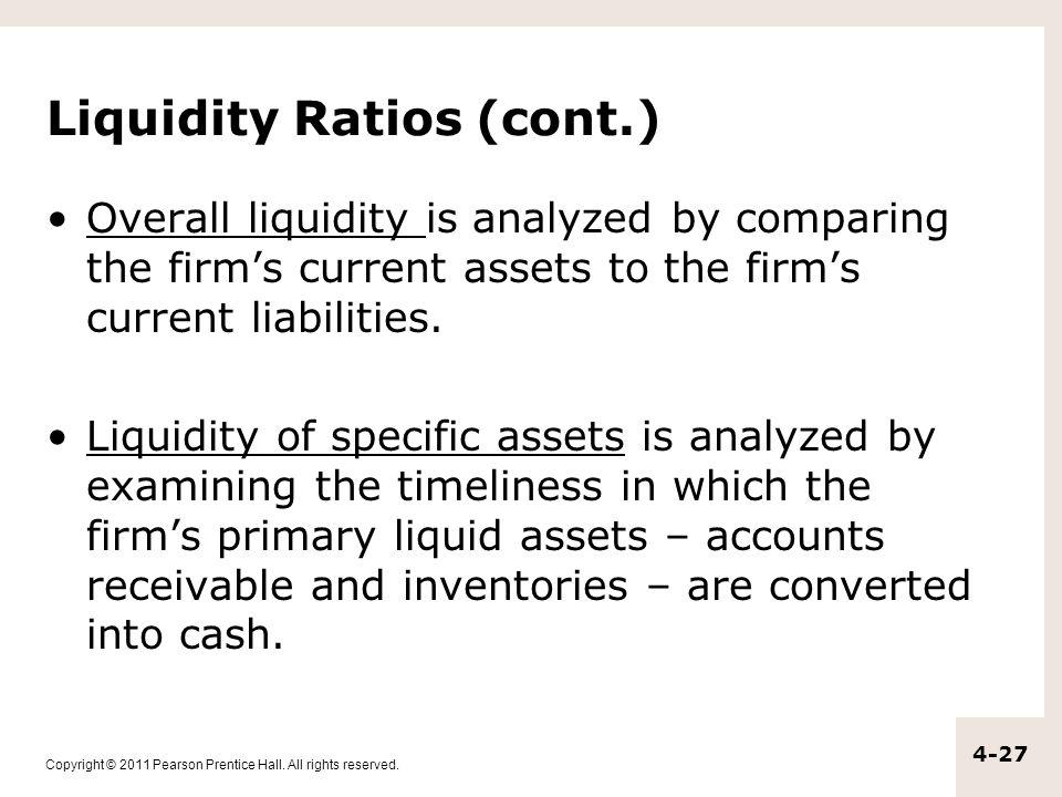 Liquidity Ratios (cont.)