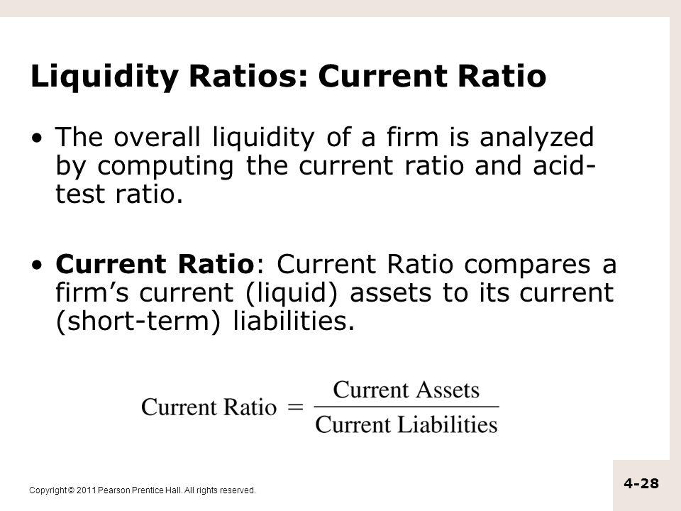 liquidity crisis and ratio analysis Financial analysis and liquidity ratios — acid-test ratio it gives information about a company's short term liquidity the ratio tells creditors how.