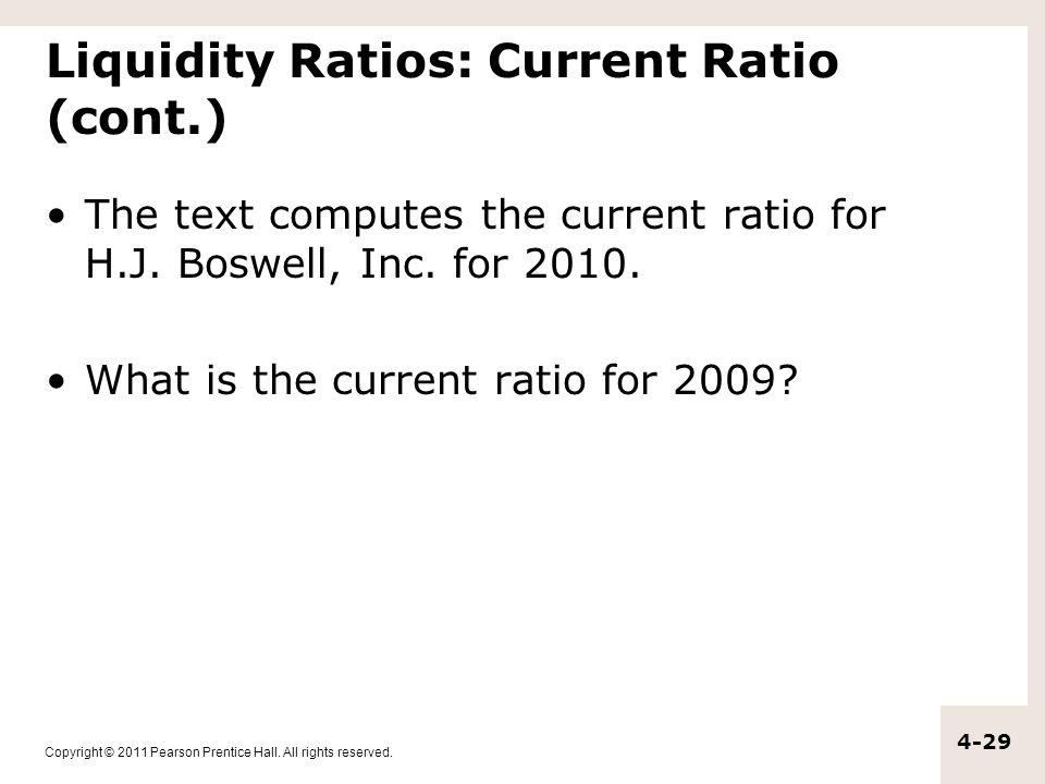Liquidity Ratios: Current Ratio (cont.)