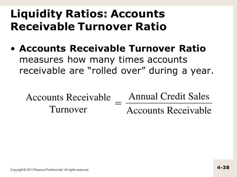 Liquidity Ratios: Accounts Receivable Turnover Ratio