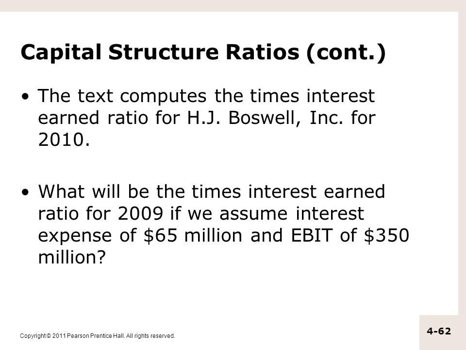 Capital Structure Ratios (cont.)