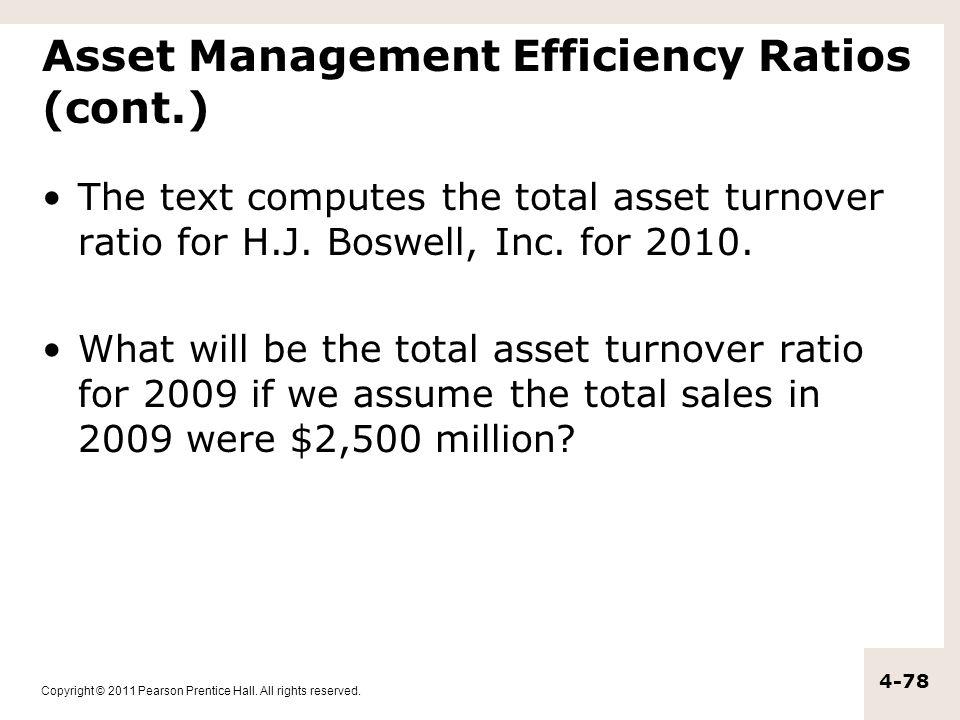 Asset Management Efficiency Ratios (cont.)