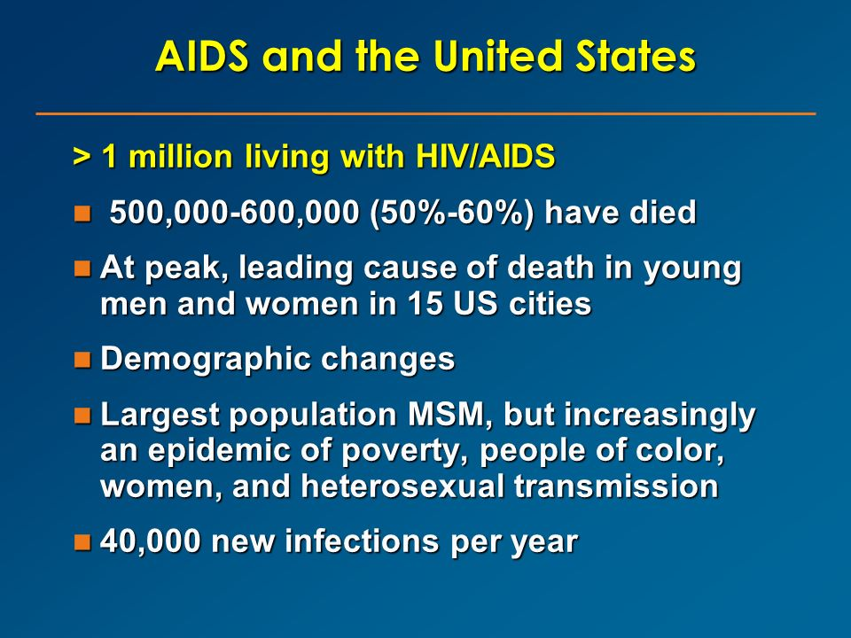 AIDS and the United States