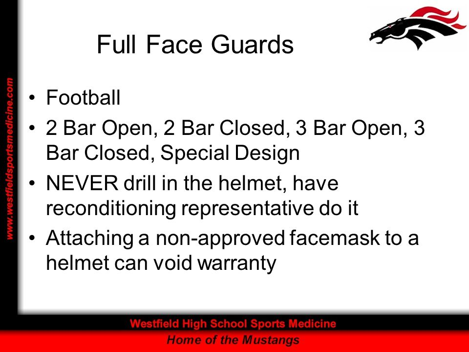 Full Face Guards Football