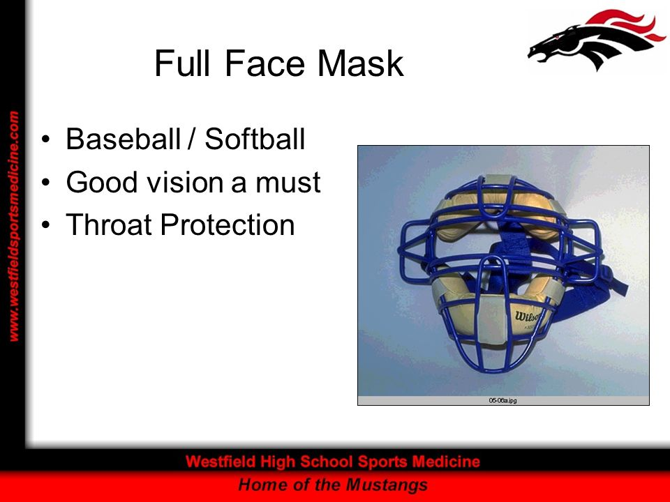 Full Face Mask Baseball / Softball Good vision a must