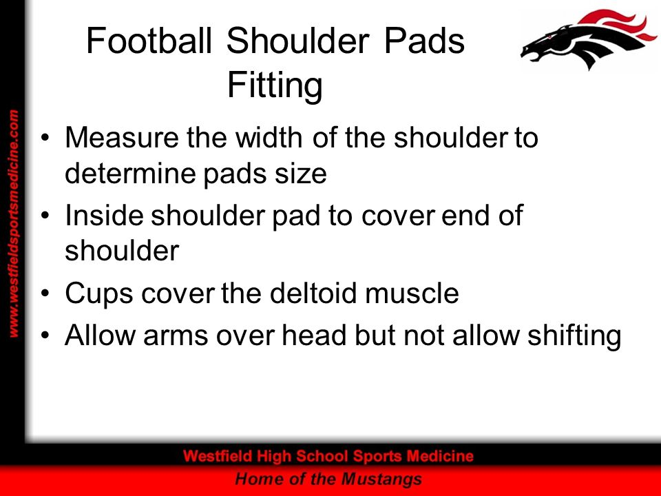 Football Shoulder Pads Fitting