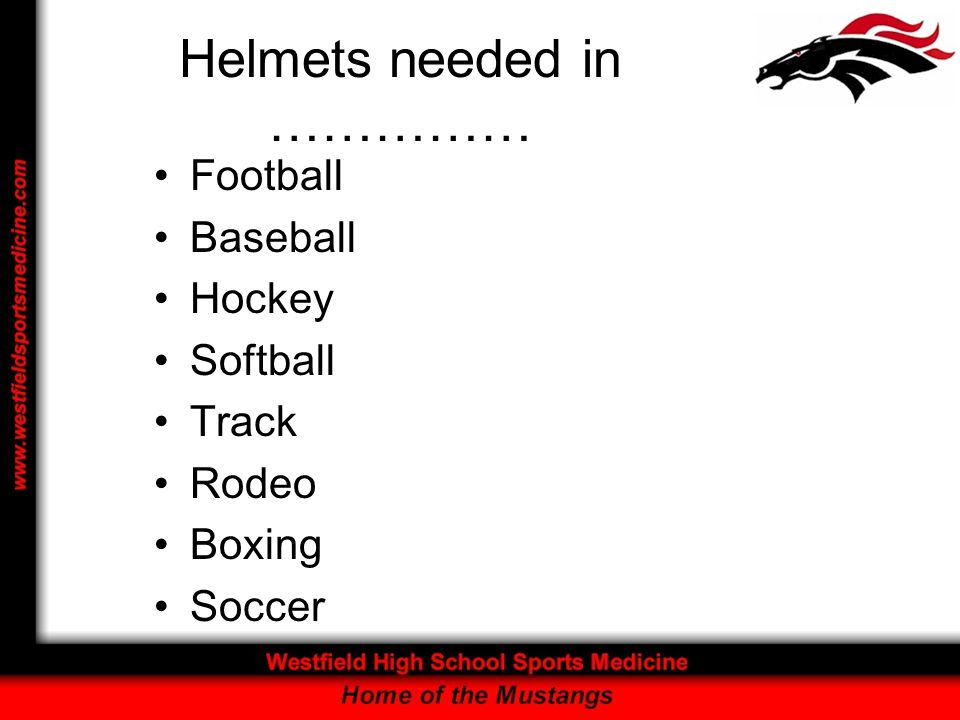 Helmets needed in ……………