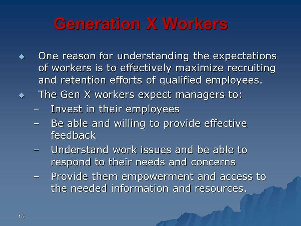 Generation X Workers