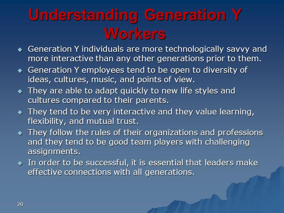 Understanding Generation Y Workers