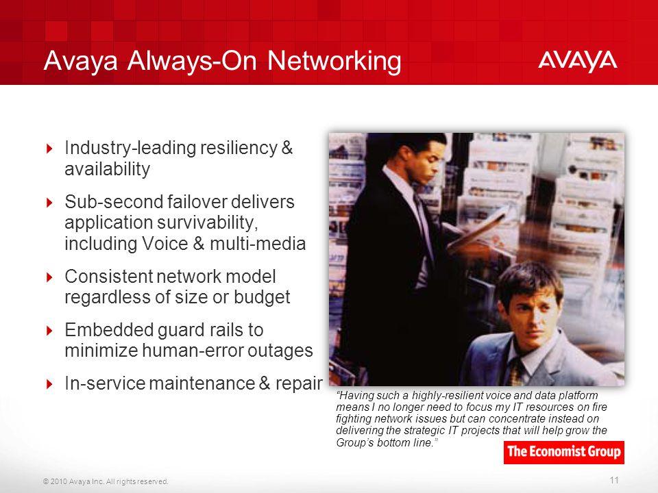 Avaya Always-On Networking