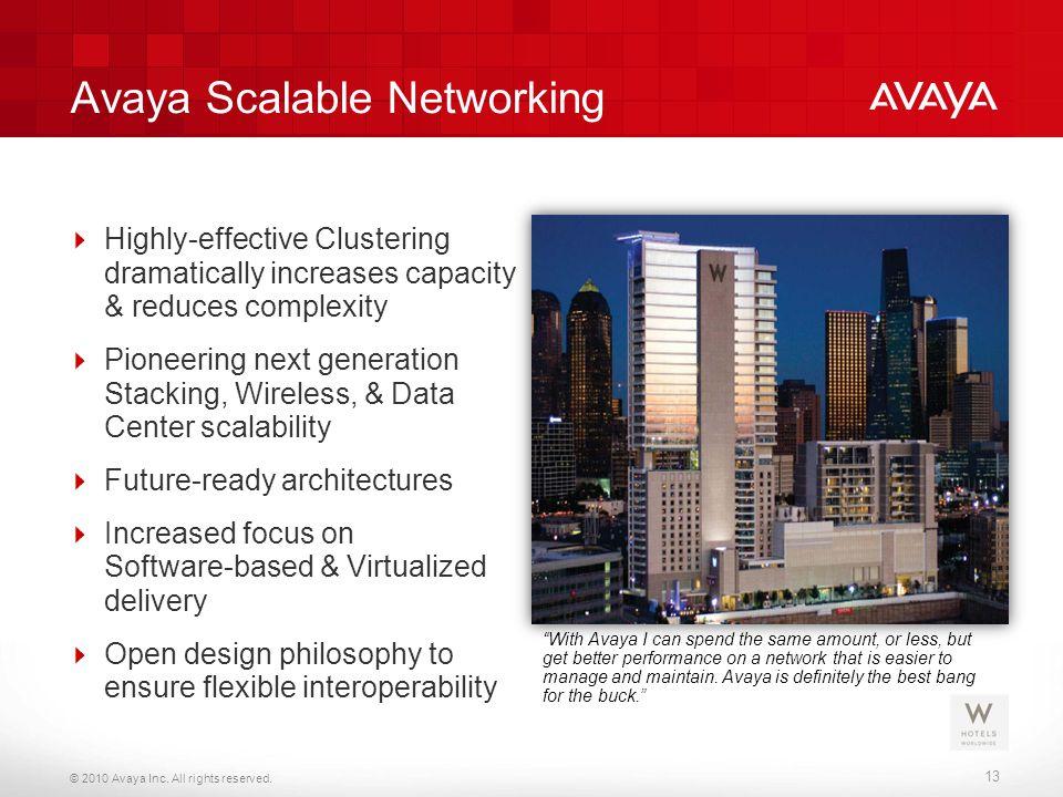 Avaya Scalable Networking