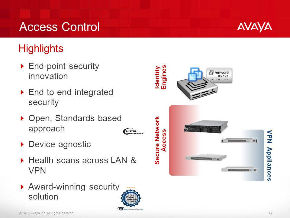 Access Control Highlights End-point security innovation