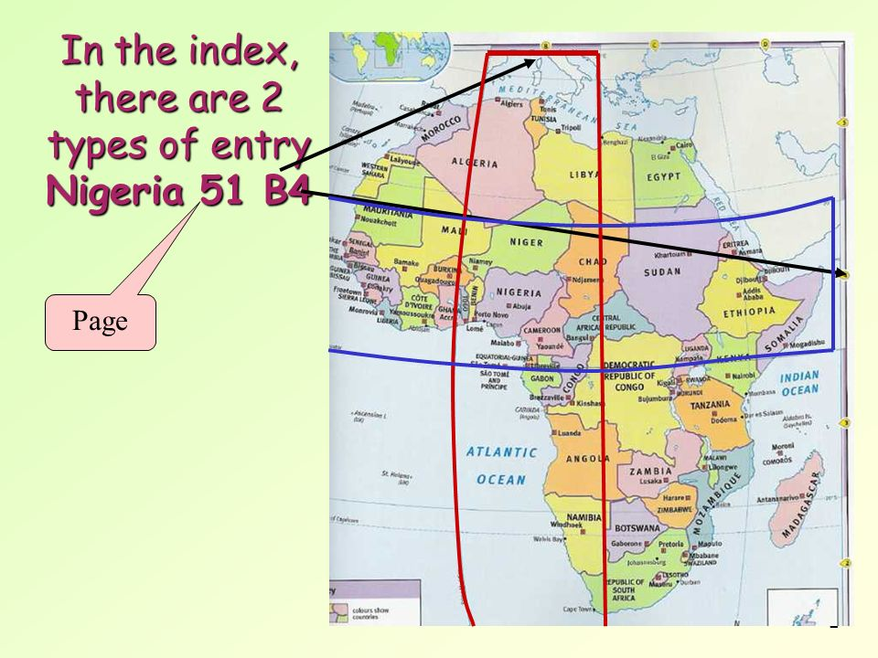 In the index, there are 2 types of entry Nigeria 51 B4