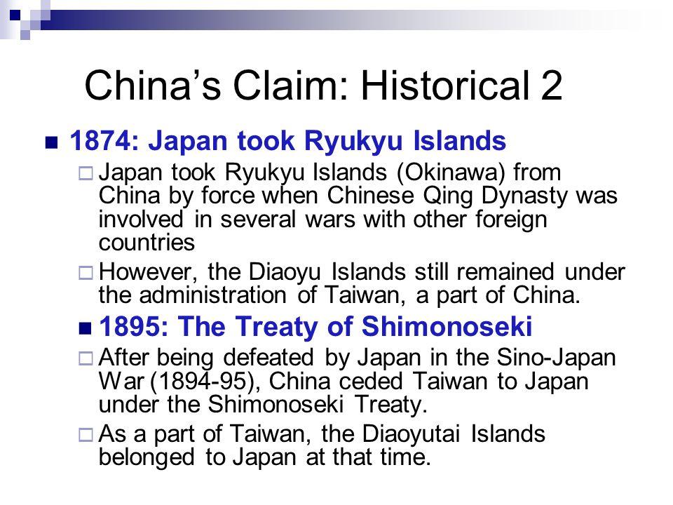 China's Claim: Historical 2
