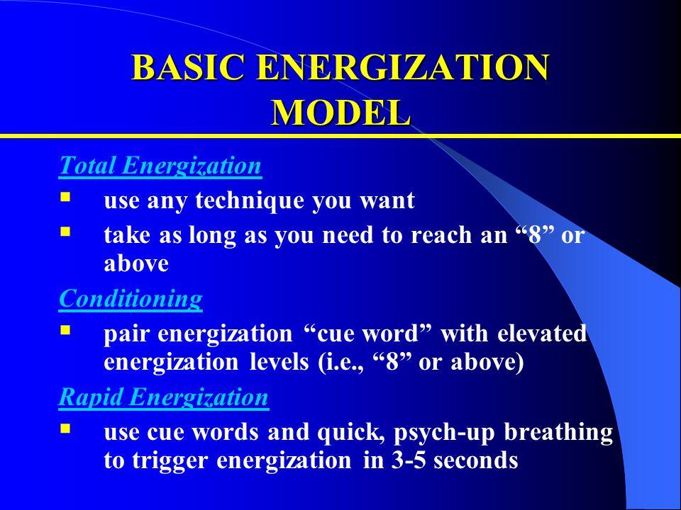 BASIC ENERGIZATION MODEL
