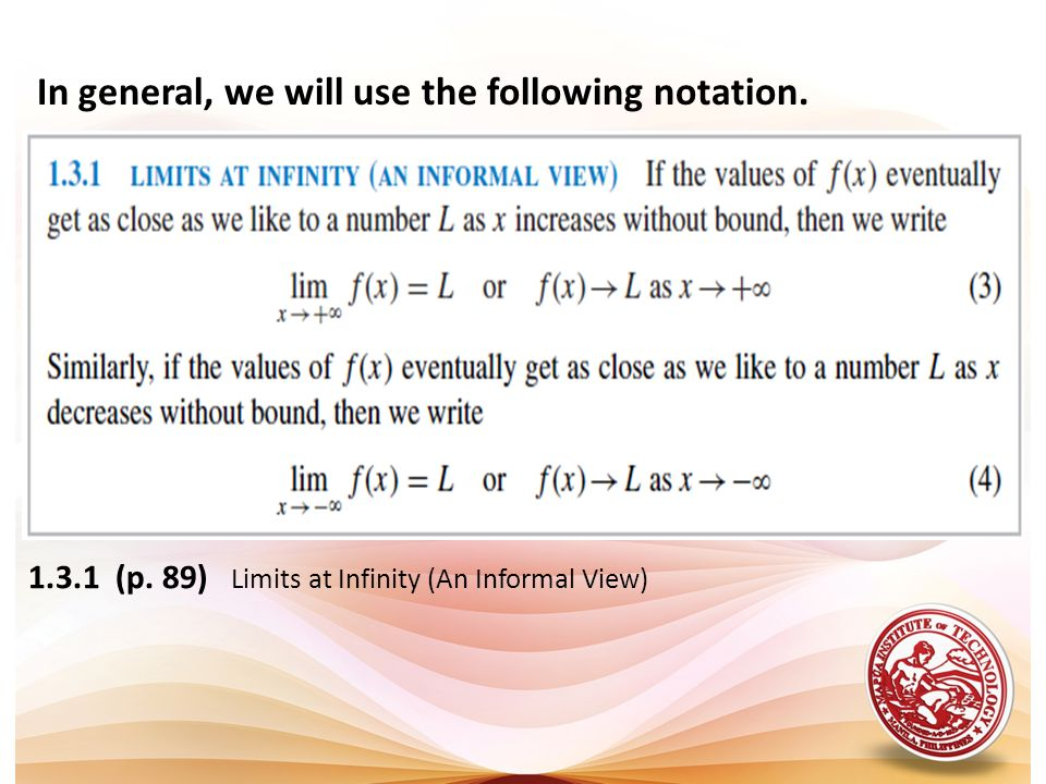 In general, we will use the following notation.