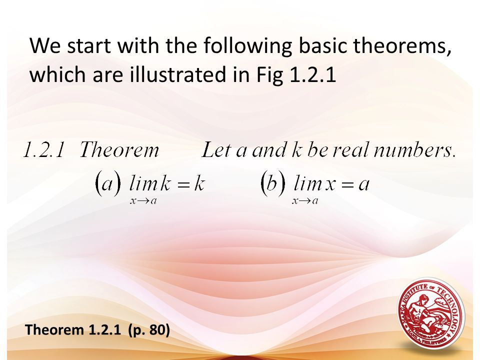 We start with the following basic theorems, which are illustrated in Fig 1.2.1