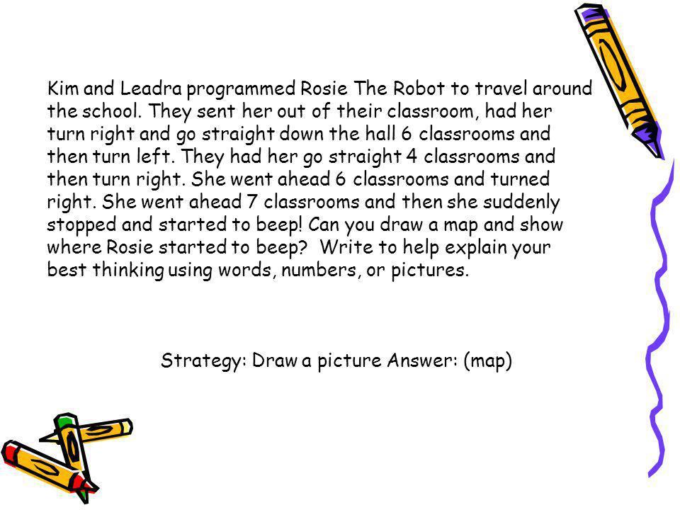 Kim and Leadra programmed Rosie The Robot to travel around the school
