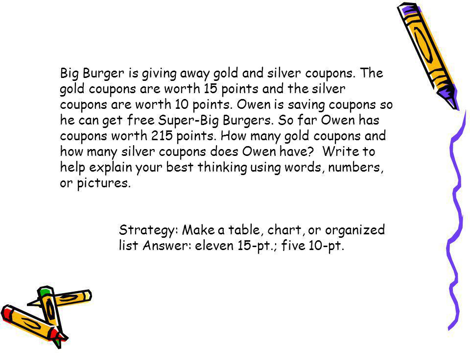 Big Burger is giving away gold and silver coupons