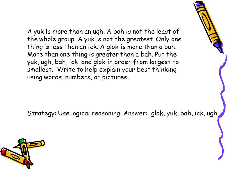 A yuk is more than an ugh. A bah is not the least of the whole group