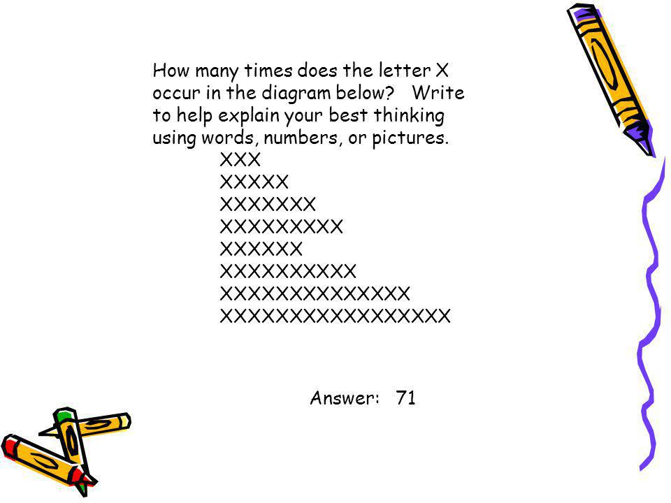 How many times does the letter X occur in the diagram below