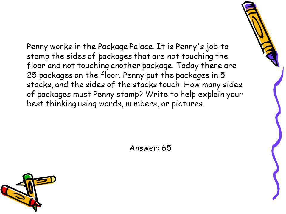 Penny works in the Package Palace