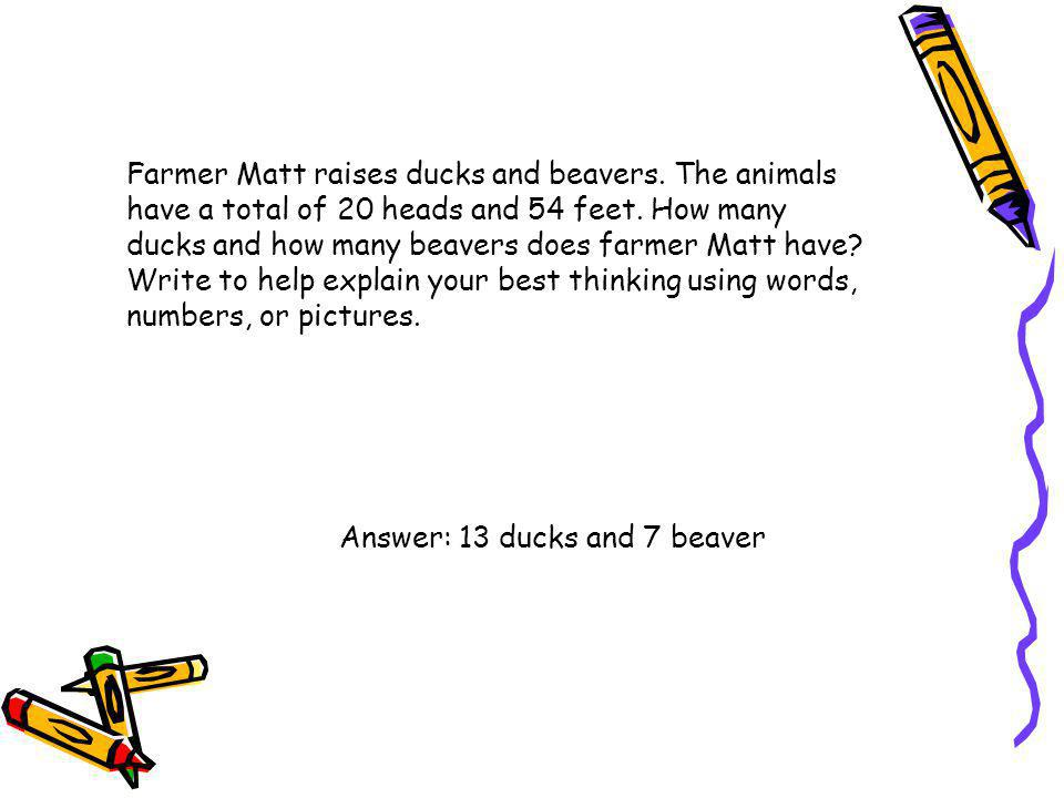 Farmer Matt raises ducks and beavers