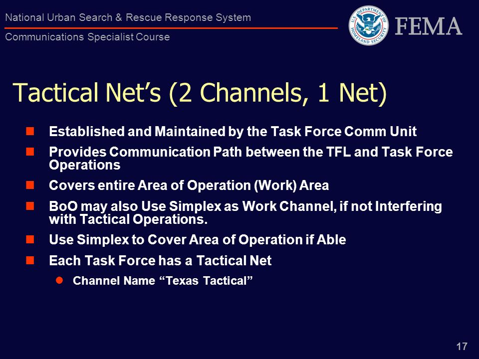 Tactical Net's (2 Channels, 1 Net)