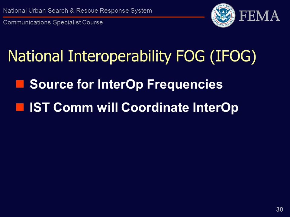 National Interoperability FOG (IFOG)