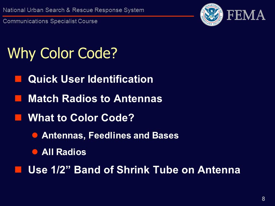 Why Color Code Quick User Identification Match Radios to Antennas