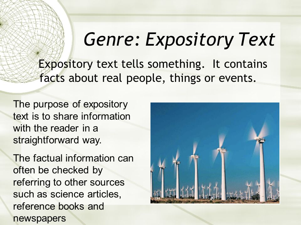 Genre: Expository Text