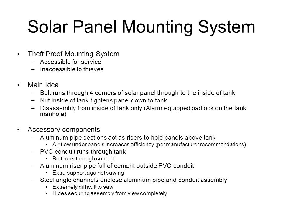 Solar Panel Mounting System