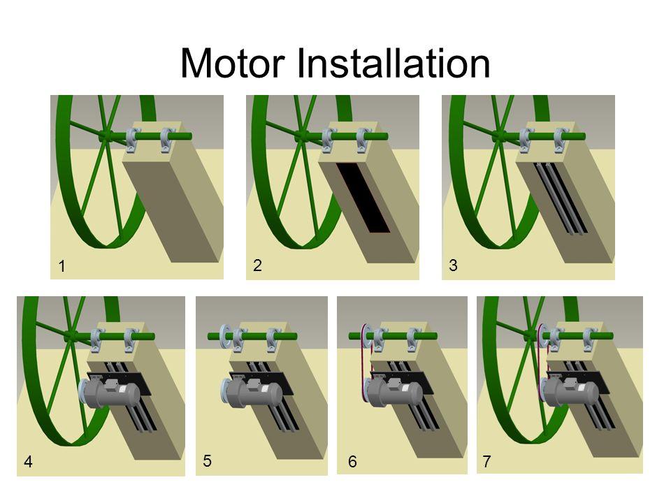Motor Installation 1 2 3 4 5 6 7