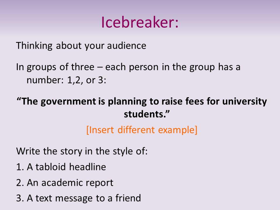 Icebreaker: