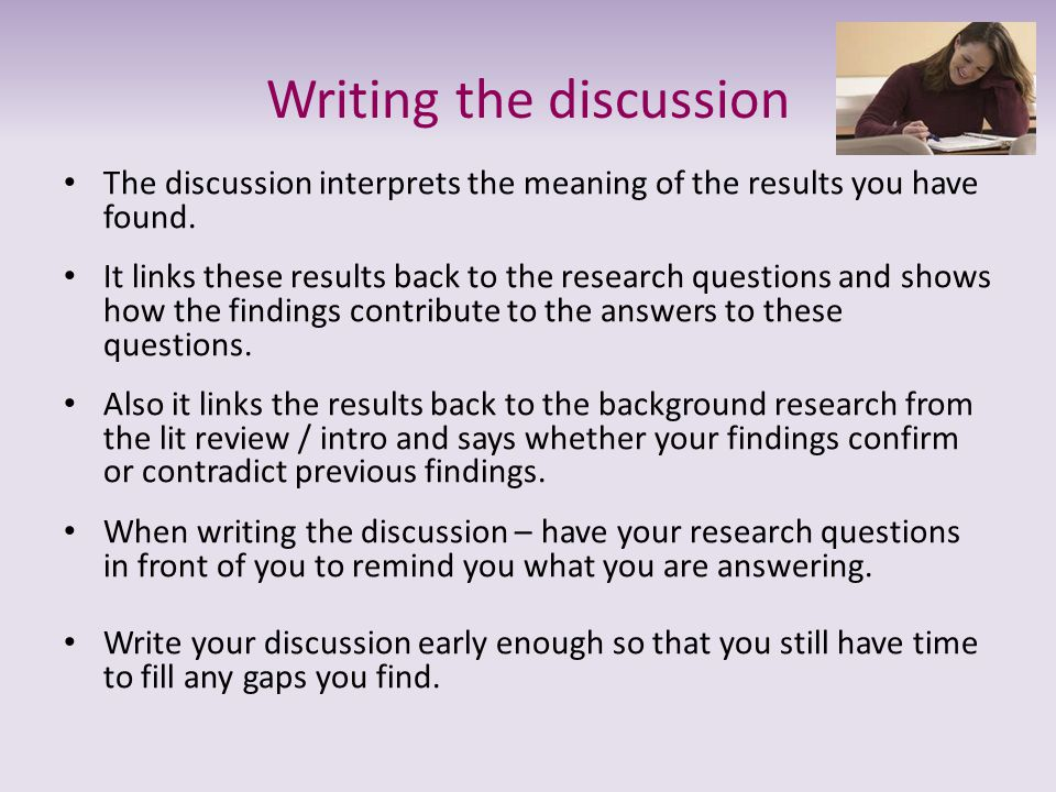 Writing the discussion
