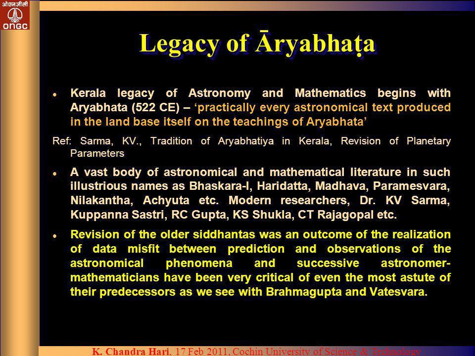 Legacy of Āryabhata
