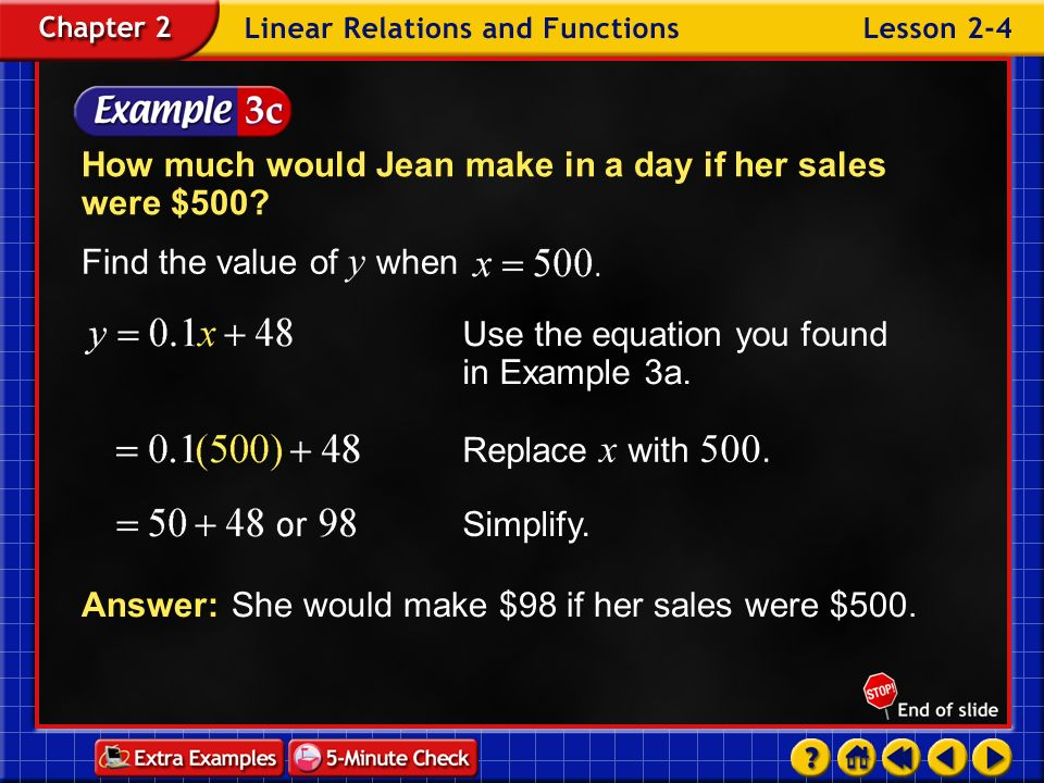 How much would Jean make in a day if her sales were $500