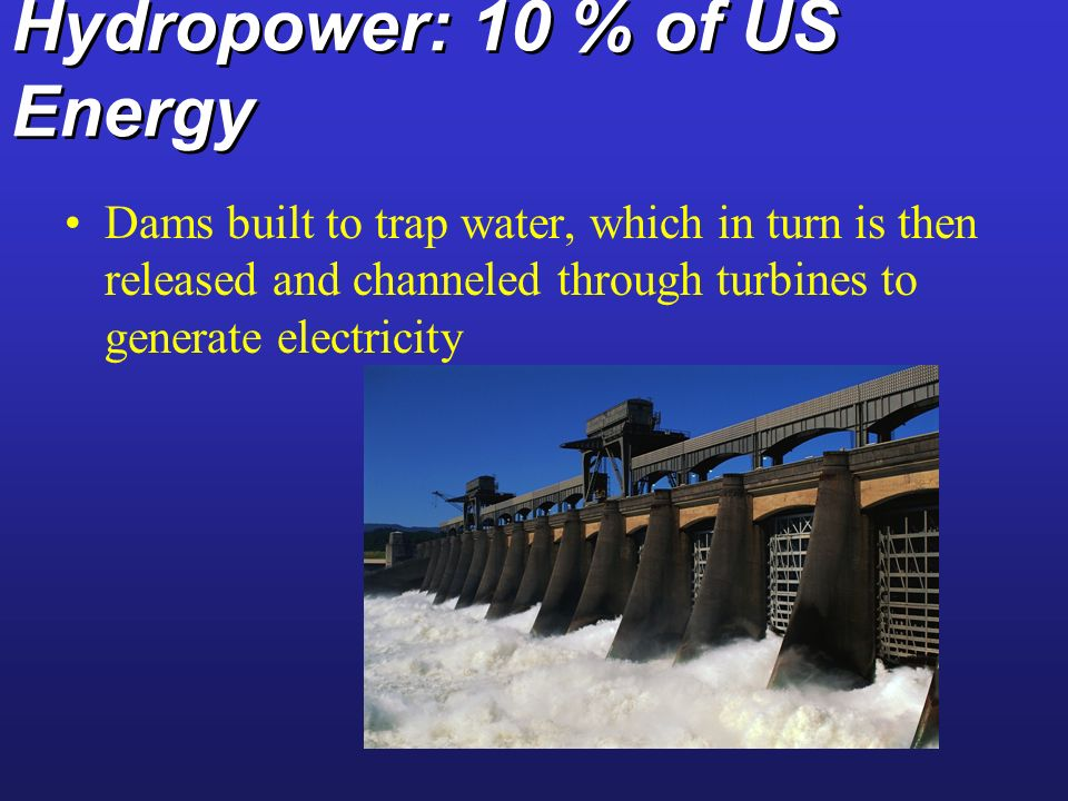 Hydropower: 10 % of US Energy