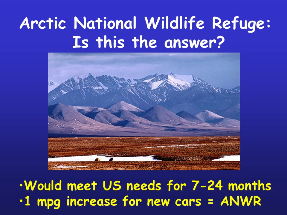 Arctic National Wildlife Refuge: