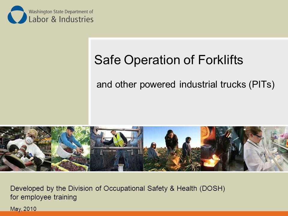 Safe Operation of Forklifts