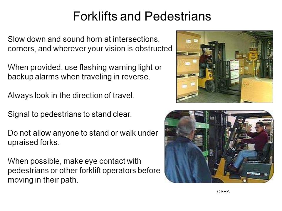 Forklifts and Pedestrians